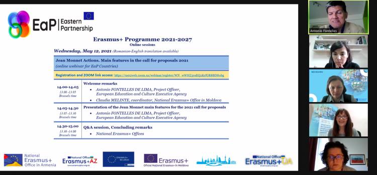 Стартуємо! Erasmus+ 2021: Jean Monnet Actions